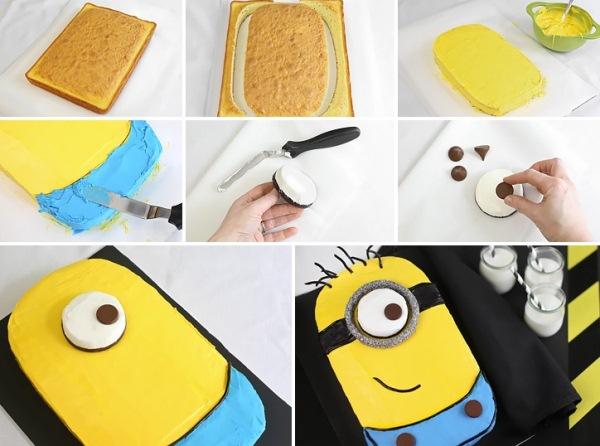 Como fazer bolo de Minion :)