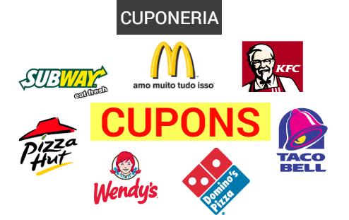 Os melhores cupons de desconto: McDonald's, Subway, Pizza Hut e mais!
