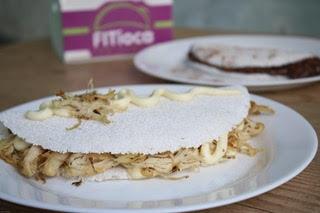 Tapioca de Frango com Cream Cheese + Tapioca de Brigadeiro por R$17,50