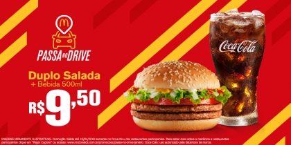 Duplo Salada + Bebida 500ml R$9,50