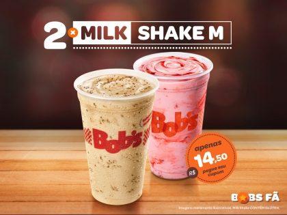 2 Milk Shakes M por R$14,50