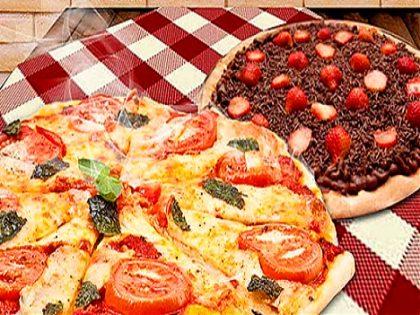 Delivery e balcão: 2 Pizzas + 1 Broto de brigadeiro + 1 Refrigerante por R$ 63,00