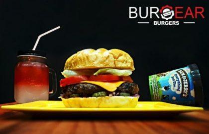Combo R$40: Burger Peace & Love com Bonduelle + Chá Gelado Lipton + Batata McCain + Ben & Jerry's