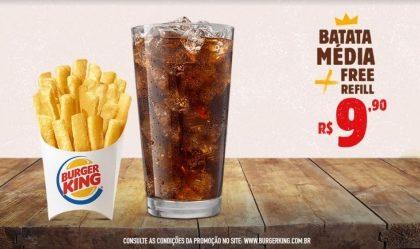 Batata Média + Free Refill por R$ 9,90