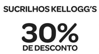 Toda a linha Sucrilhos Kellogg's com 30% de desconto