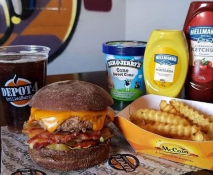 Combo R$40: Burger Regular Beef + Chá Lipton + Batata McCain + Sorvete Ben & Jerry's
