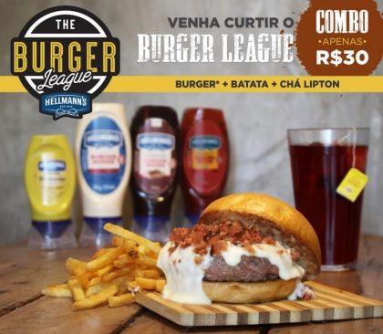 Combo R$30: Todos os lanches (exceto Rush) + Drink de Chá Lipton + Batata McCain