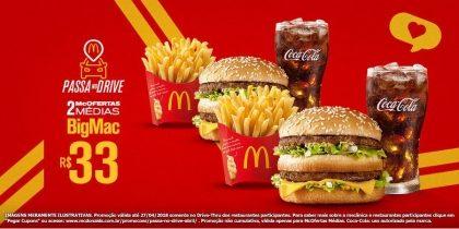 Drive-Thru: 2 McOfertas Médias Big Mac R$33