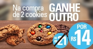 (04/05) Shopping Center Norte: Compre 02 Cookies e ganhe outro!