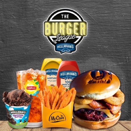 Combo R$40: Burger (3 opções) + Chá Gelado Lipton + Batata McCain + Sorvete Ben & Jerry's