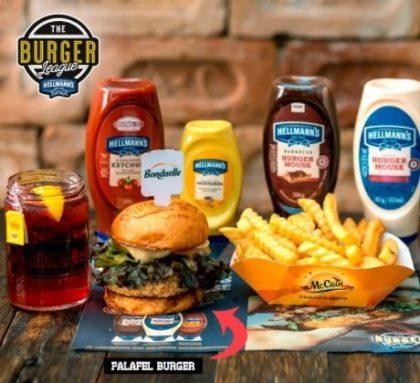 Combo R$30: Falafel Burguer + Drink de Chá Lipton + Batata McCain
