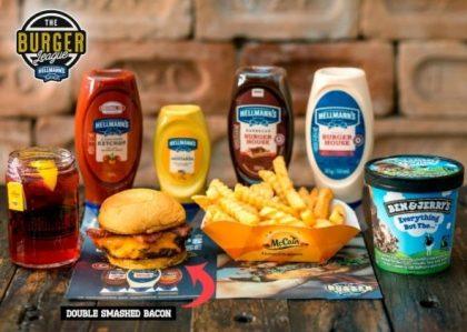 Combo R$40: Double Smash bacon + Chá Gelado Lipton + Batata McCain + Sorvete Ben & Jerry's