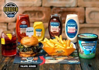 Combo R$40: Falafel Burger + Chá Gelado Lipton + Batata McCain + Sorvete Ben & Jerry's