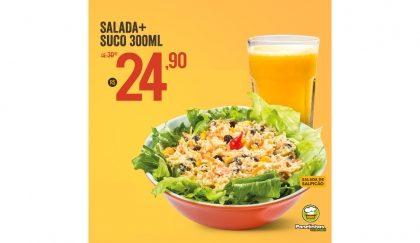 Salada de Salpicão + Suco de 300 ML por R$24,90