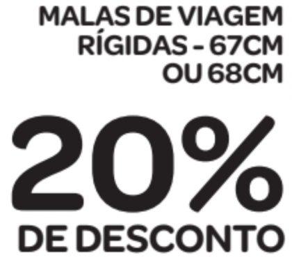 Malas de Viagem Rígidas (67cm ou 68cm) com 20% de desconto