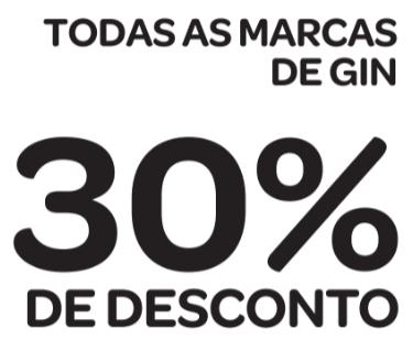 30% de desconto em todas as marcas de GIN [18+]