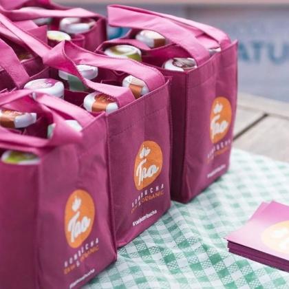 Festa Junina da Feira Vegana do ABC: Frutiando: Compre 4 garrafas de Kombucha (R$ 10 cada) e ganhe uma ecobag