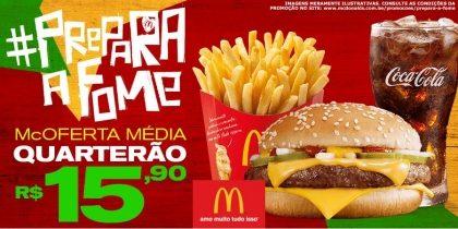 McOferta Média Quarterão R$15,90