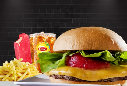 COMBO: Burger + Fritas + Chá Gelado Lipton + 1 Paleta Mexicana por R$35 (São José dos Campos)