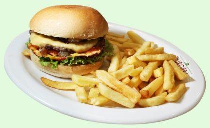 COMBO Cheeseburger Simples + Fritas por apenas R$24,20!