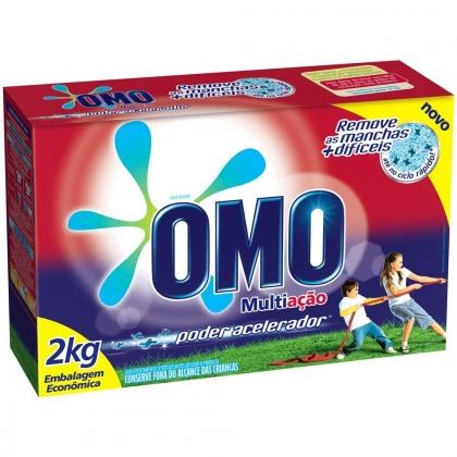 Lava Roupas em Pó OMO 2 kg por apenas R$15,99