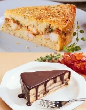 (Doce Dorinha) Compre 2 fatias de torta (uma doce e uma salgada) por apenas R$10!