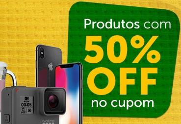 Cupom de 50% OFF em produtos selecionados no Girafa!