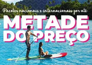Pacotes nacionais e internacionais até 50% OFF  + Cupom de 8% OFF no Hotel Urbano!