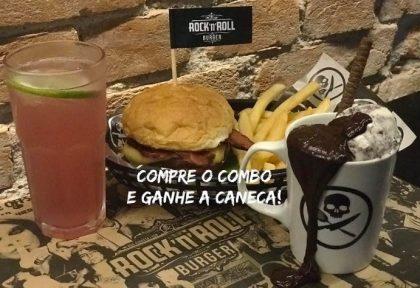 Qualquer Burguer do Cardápio + 1⁄2 Fritas + Lemonade Refil + Brownie com Sorvete na Caneca por R$51,90