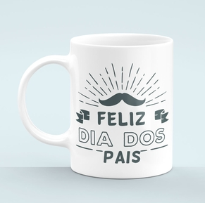 Caneca Personalizada Dia dos Pais por R$30,00! (Shopping Nações Unidas)