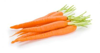 Cenouras com 25% de desconto