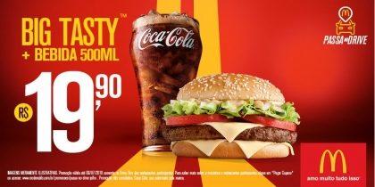 Drive-Thru: Big Tasty + Bebida 500ml R$19,90