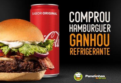 Compre um Hambúrguer e ganhe um Refrigerante!