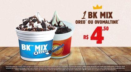 1 BK Mix Oreo® ou Ovomaltine® por R$ 4,50