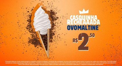 Casquinha Recheada Ovomaltine® por R$ 2,50