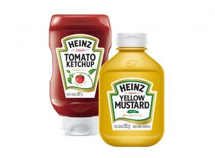 Ketchup e Mostarda HEINZ com 25% de desconto