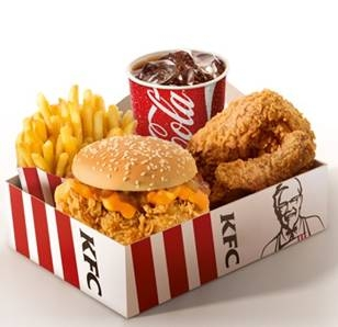 Big Box KFC Cheddar Melt por R$ 23,50