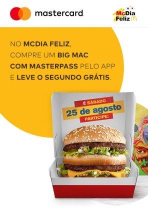 McDia Feliz: Compre um Big Mac com Masterpass e ganhe outro!