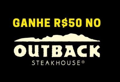 Concorra a R$50 no Outback! Clique no botão e saiba como ❤