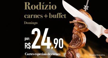 São Judas: Rodízio de Carnes + Buffet por R$ 24,90 no jantar de domingo