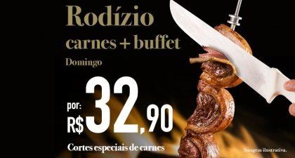 Aeroporto: Rodízio de Carnes + Buffet por R$ 32,90 no jantar de domingo