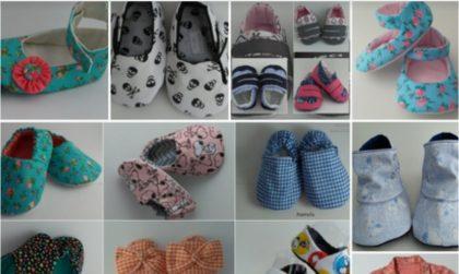 Andrea Arts & Crafts Ateliê: Sapatinho de tecido para bebê com 10% de desconto!