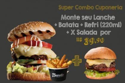 GANHE 1 X- Salada na compra de Burger (Você Monta) + Batata + Refri 220ml