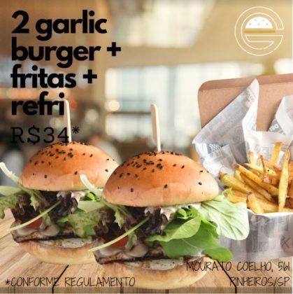 GANHE 1 Garlic Burger na compra de 1 Combo Garlic (Burger + Batata + Refrigerante)