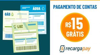 Cupom de R$15 OFF em Pagamento de Contas para novos usuários RecargaPay!