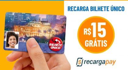 Cupom de R$15 OFF no Bilhete Único para novos usuários RecargaPay!