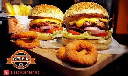 Na compra do combo Geek Burger + Fritas, GANHE outro Geek Burger