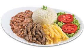 Center 3: Isca de Carne + Arroz + Feijão + Fritas ou Purê + Salada + Refri por R$ 18,90!
