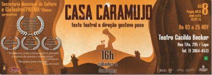 """Espetáculo """"Casa Caramujo"""" por R$ 7,90!"""