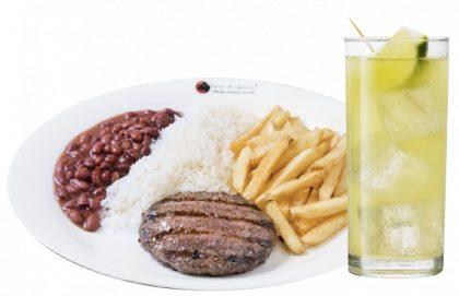 (Shopping Light) Prato com Hambúrguer + 1 Acompanhamento + Limonada por R$ 19,90